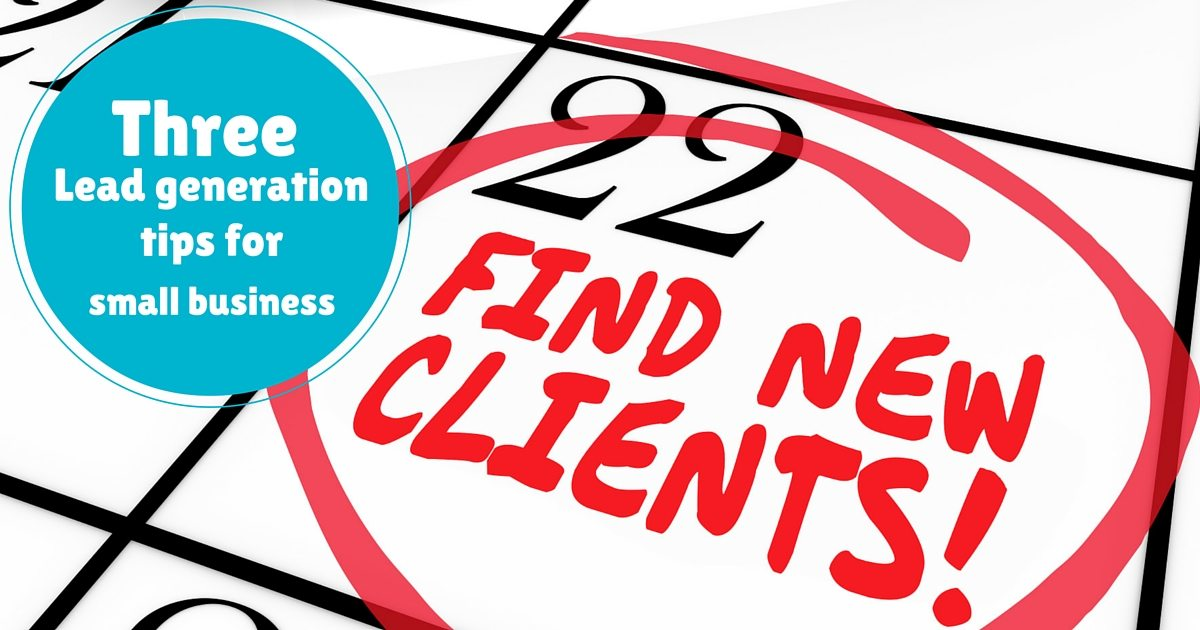 3 Lead generation tips for small business | © Oneresource