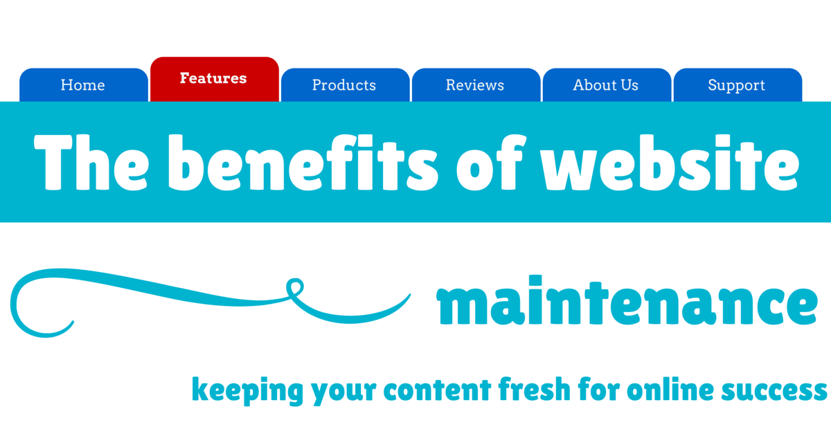 The benefits of website maintenance | © Oneresource