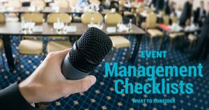 What to consider in your event management checklist