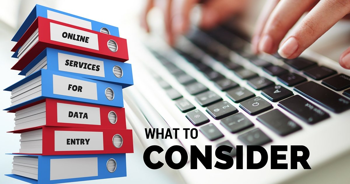 What to consider when selecting online services for data entry | © Oneresource