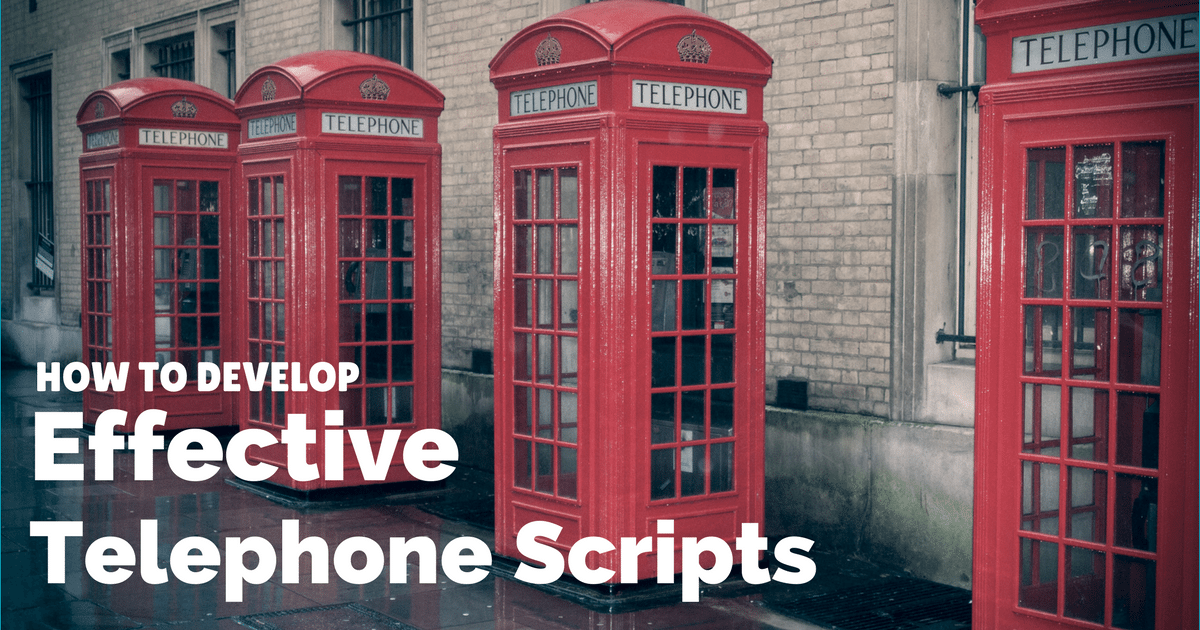 How to develop effective telephone and cold-calling scripts | © Oneresource