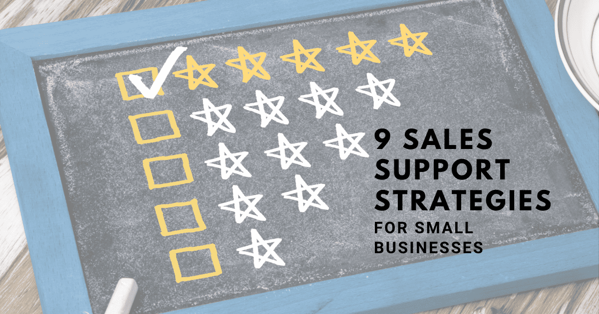 9 Sales support strategies for SMEs