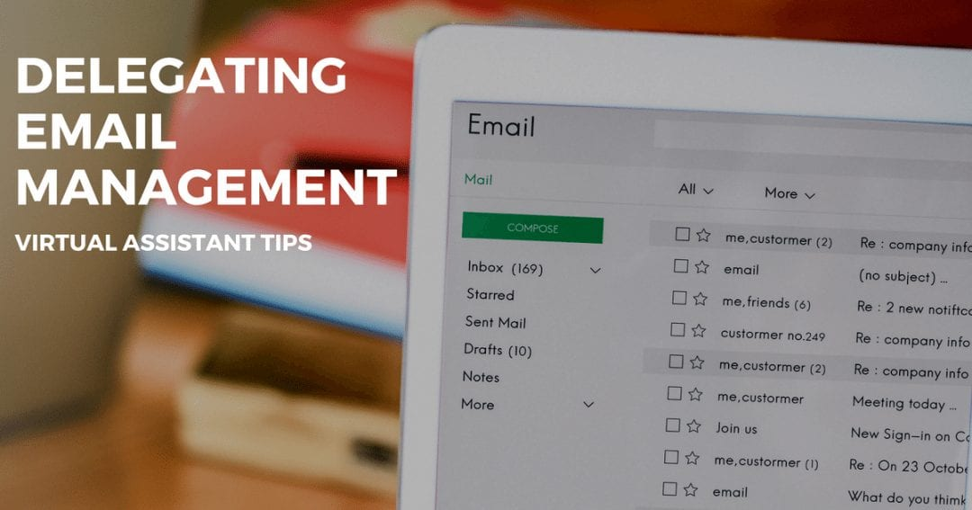 Delegating email management virtual assistant tips | © one-resource.com
